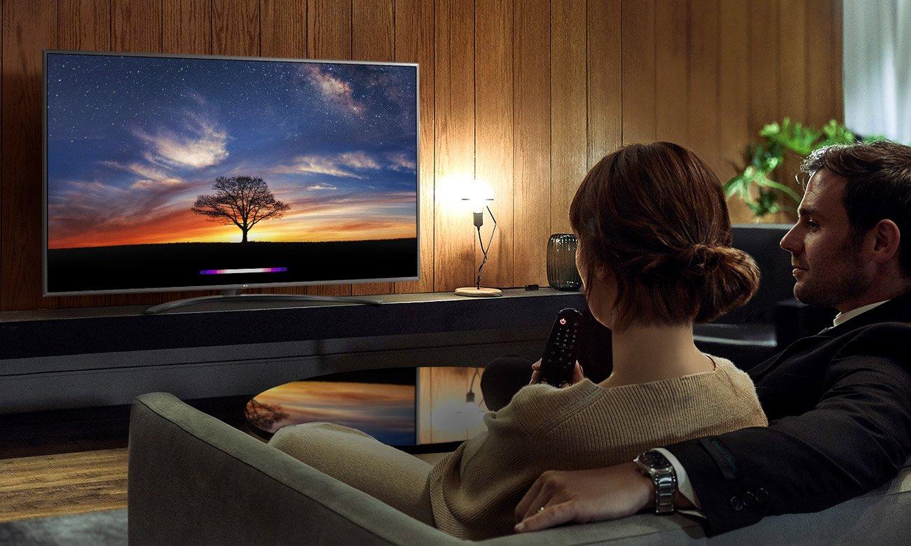 Sztuczna inteligencja i polecenia głosowe w TV LG 55UM7400