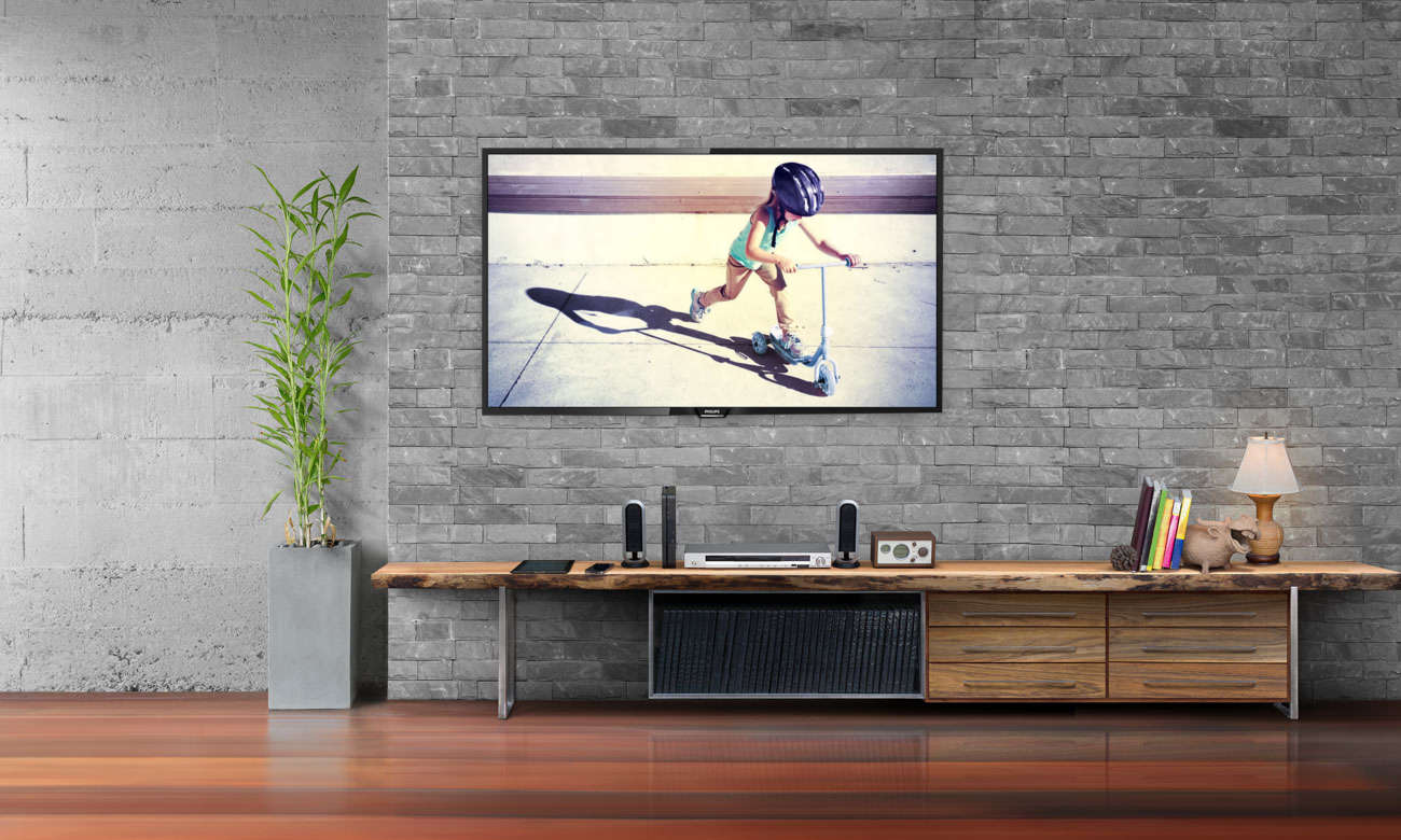Niewielki, smukły telewizor Philips 43PFT4112