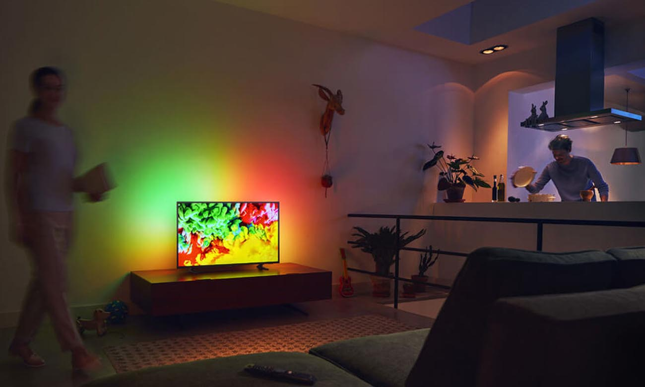 Płynny obraz bez szumów na ekranie tv Philips 43PUS6703