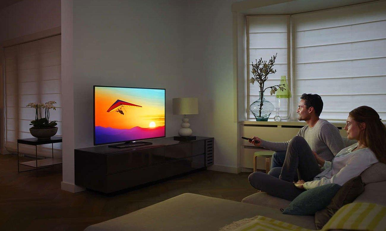 Płynny obraz bez szumów na ekranie tv Philips 55PUS6262