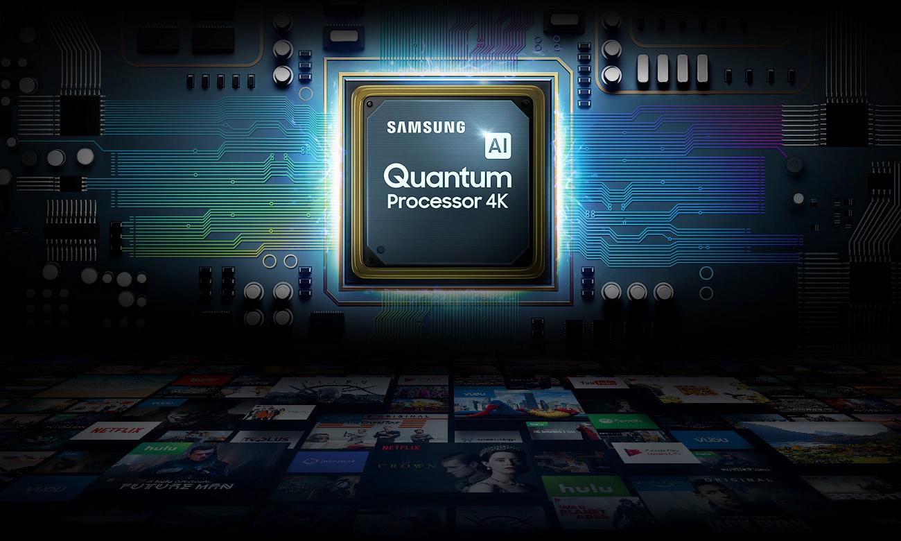 Wydajny procesor przetwarzania obrazu w telewizorze Samsung QE55Q74TA