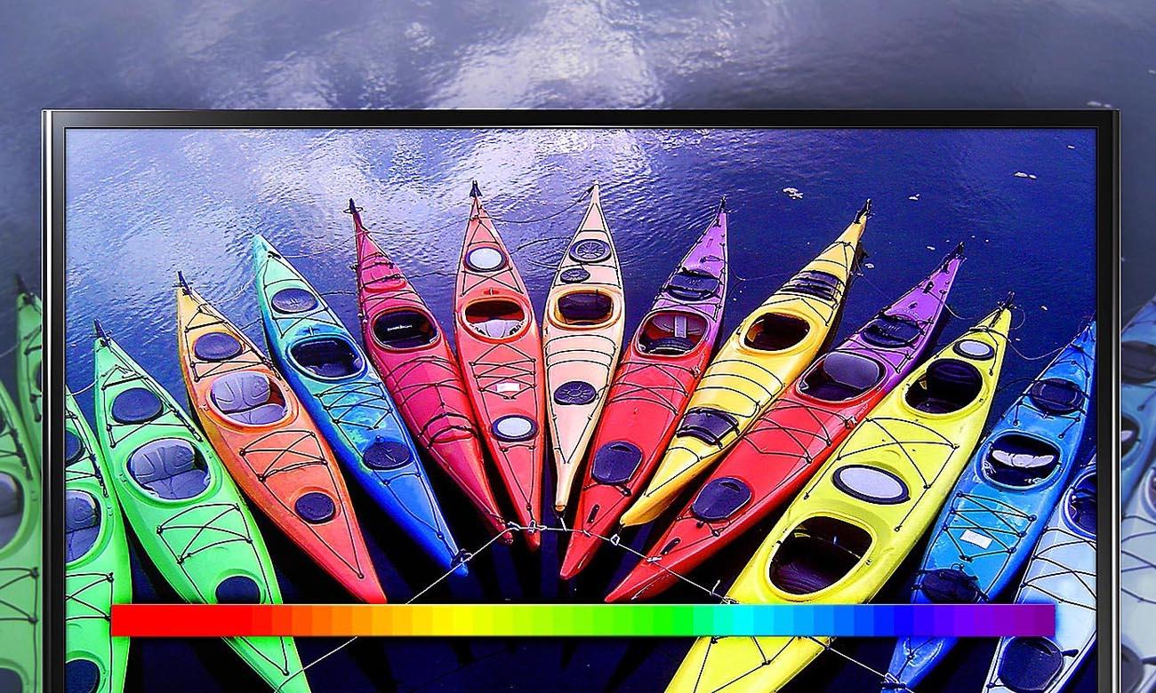Pełna paleta barw i odcieni na ekranie telewizora UE32N4002