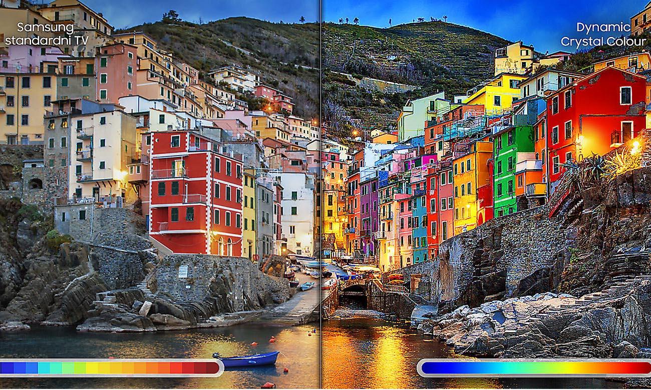 Pełna paleta barw i odcieni na ekranie telewizora UE55NU8002