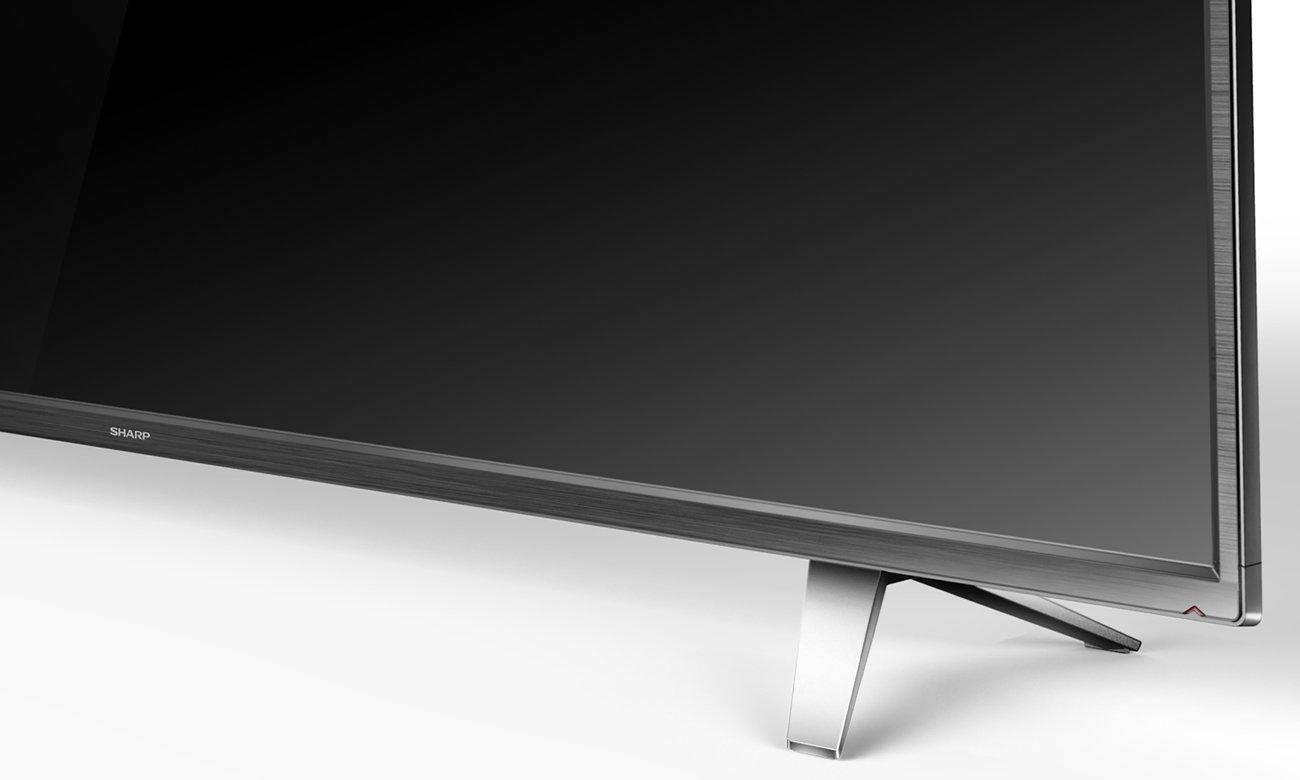 Cienka konsrukcja 65-calowego telewizora Sharp LC65CUG8062E