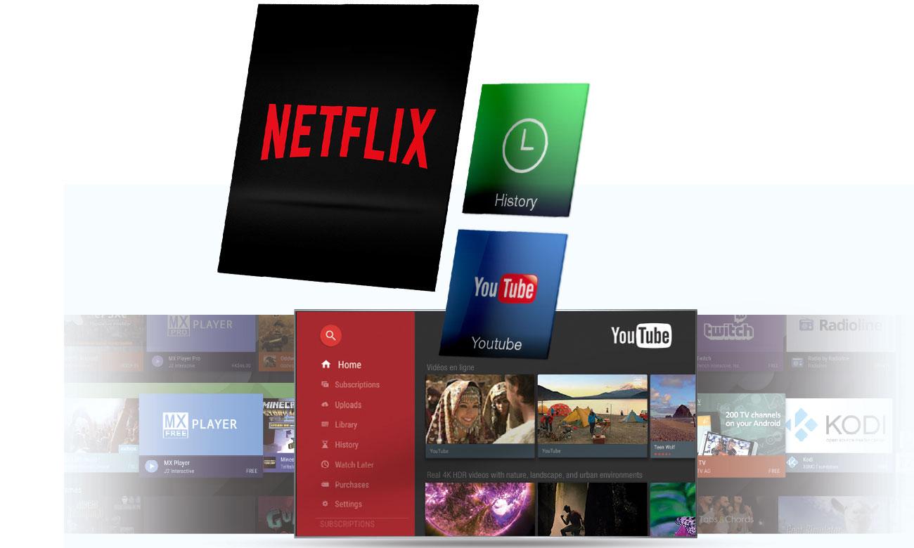 Dostęp do platform filmowych z telewizorem TCL U49P6006