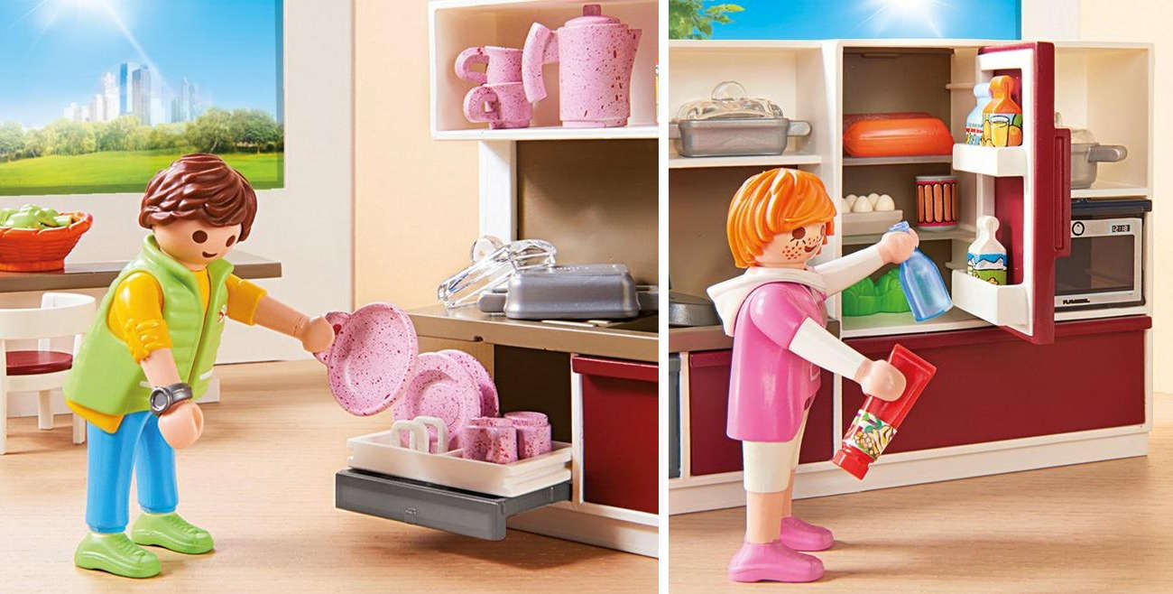 Zestaw PLAYMOBIL® Duża rodzinna kuchnia 9269