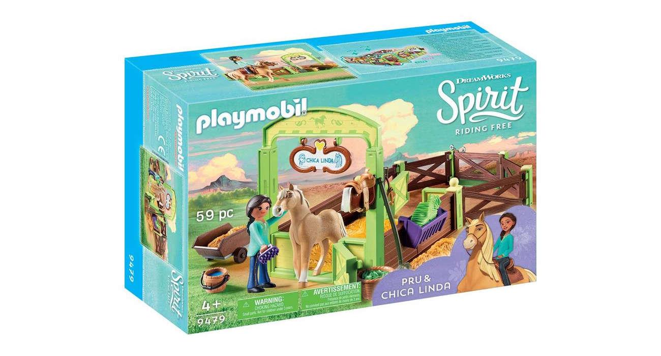 PLAYMOBIL® Spirit Riding Free - Boks stajenny Pru i Chica Linda 9479
