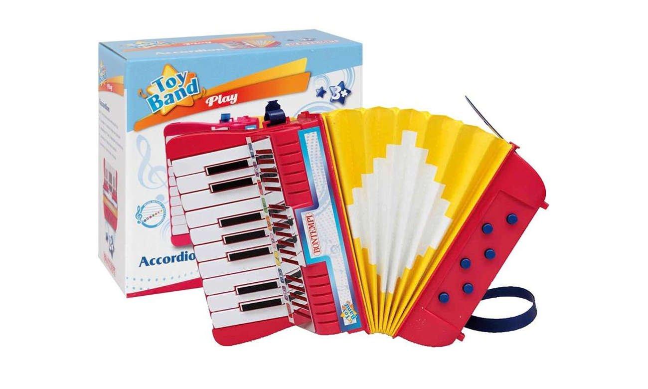 Zabawka muzyczna Zabawka muzyczna Bontempi Akordeon 17 klawiszy, 6 przycisków basowych 041-18145