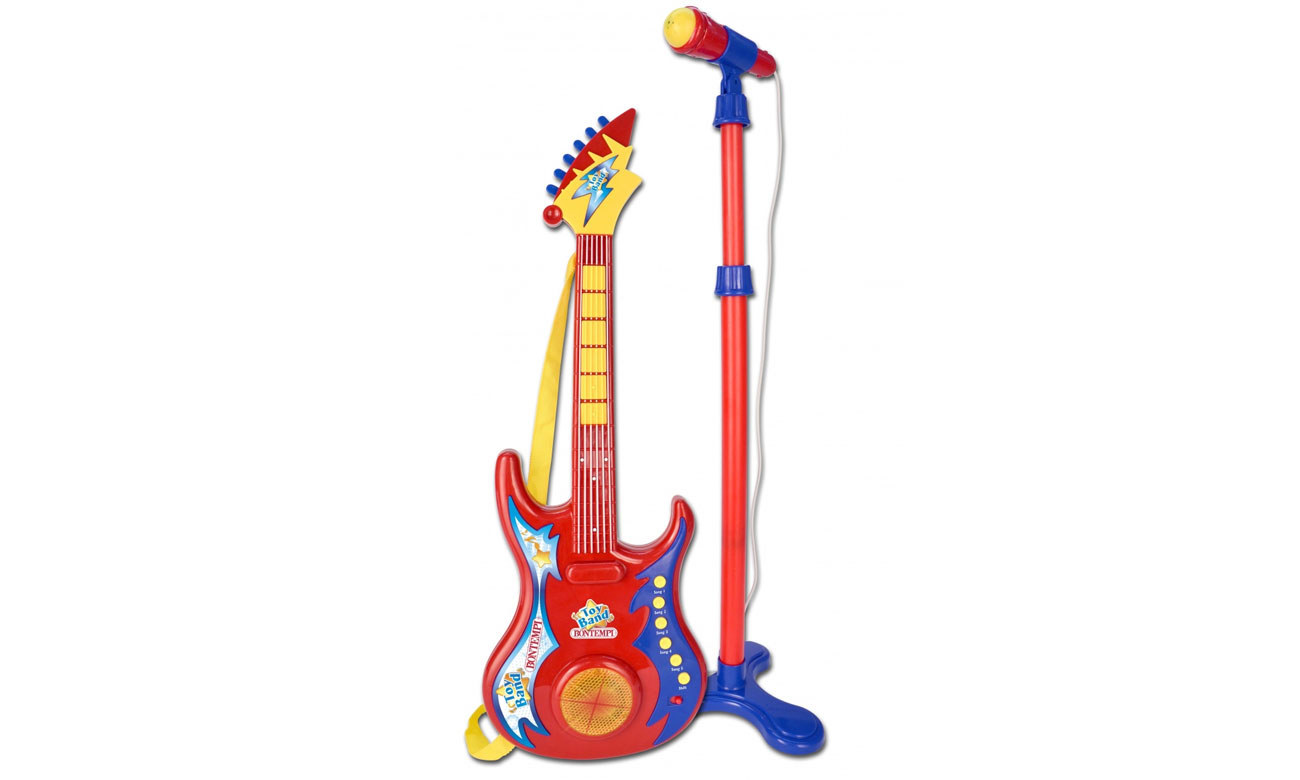 Bontempi Gitara rockowa z mikrofonem