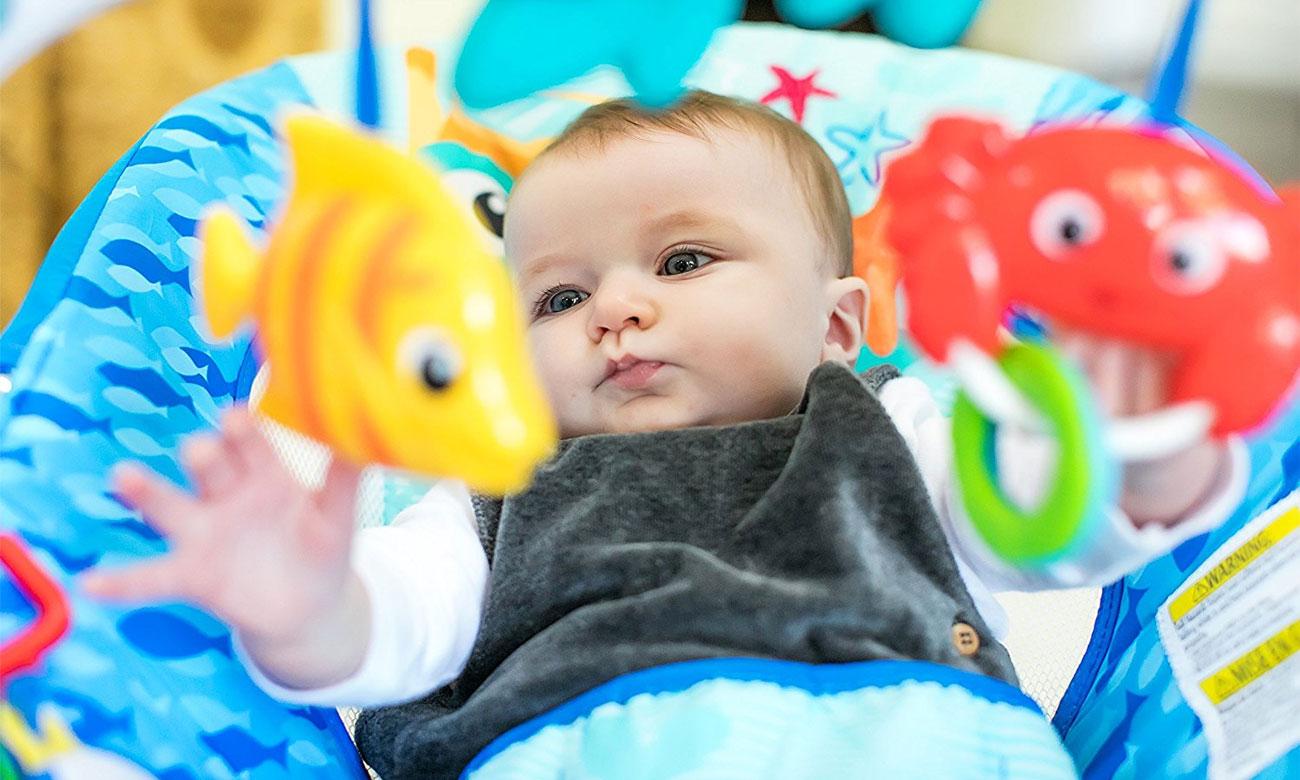 Bright Starts baby einstain leżaczek neptune
