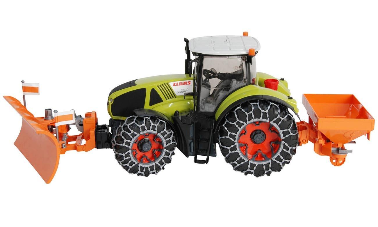 BRUDER Traktor Claas Axion 950 z łańcuchami i solarką