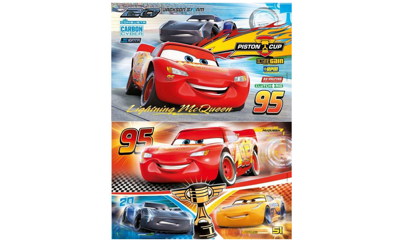 2 zestawy puzzli Disney Auta Cars Clementoni 07131