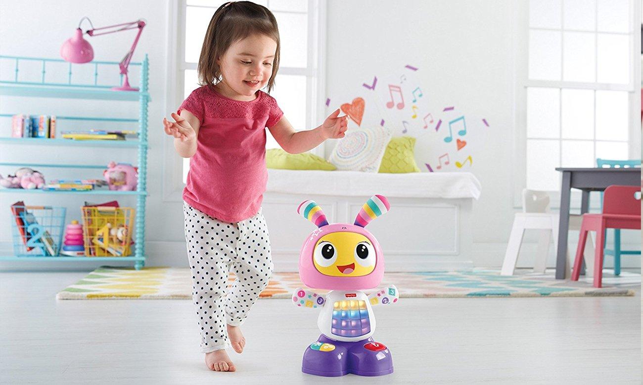 DYP09 fisher price zabawka robot bebo różowy