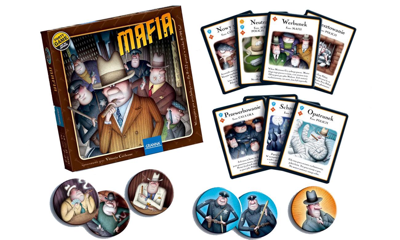 Zawartość pudełka z grą Mafia Granna 00084