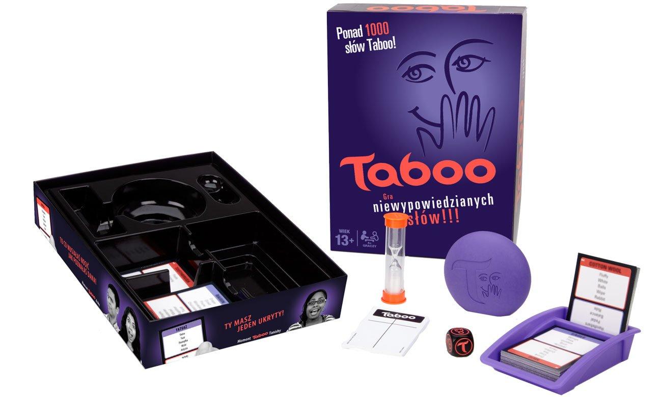 Zawartość opakowania z grą Hasbro Taboo A4626