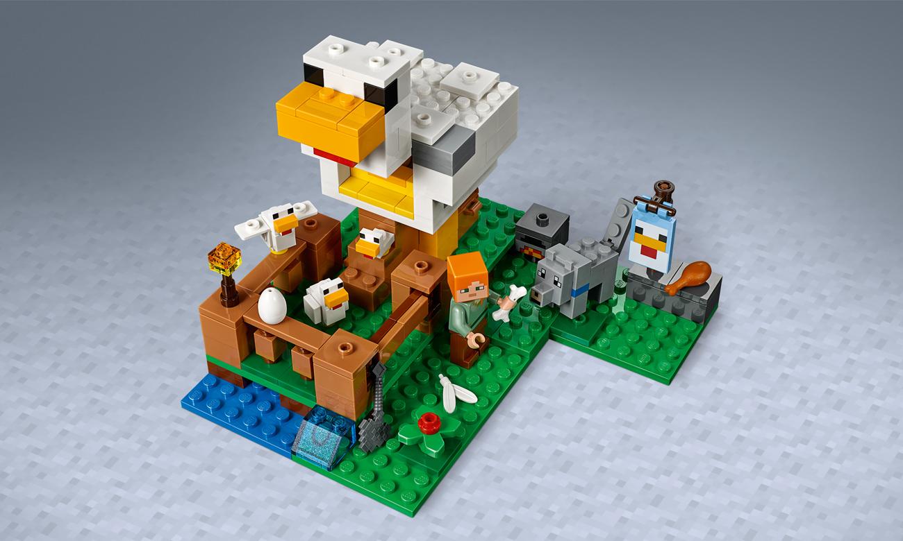 zestaw lego minecraft z kurnikiem