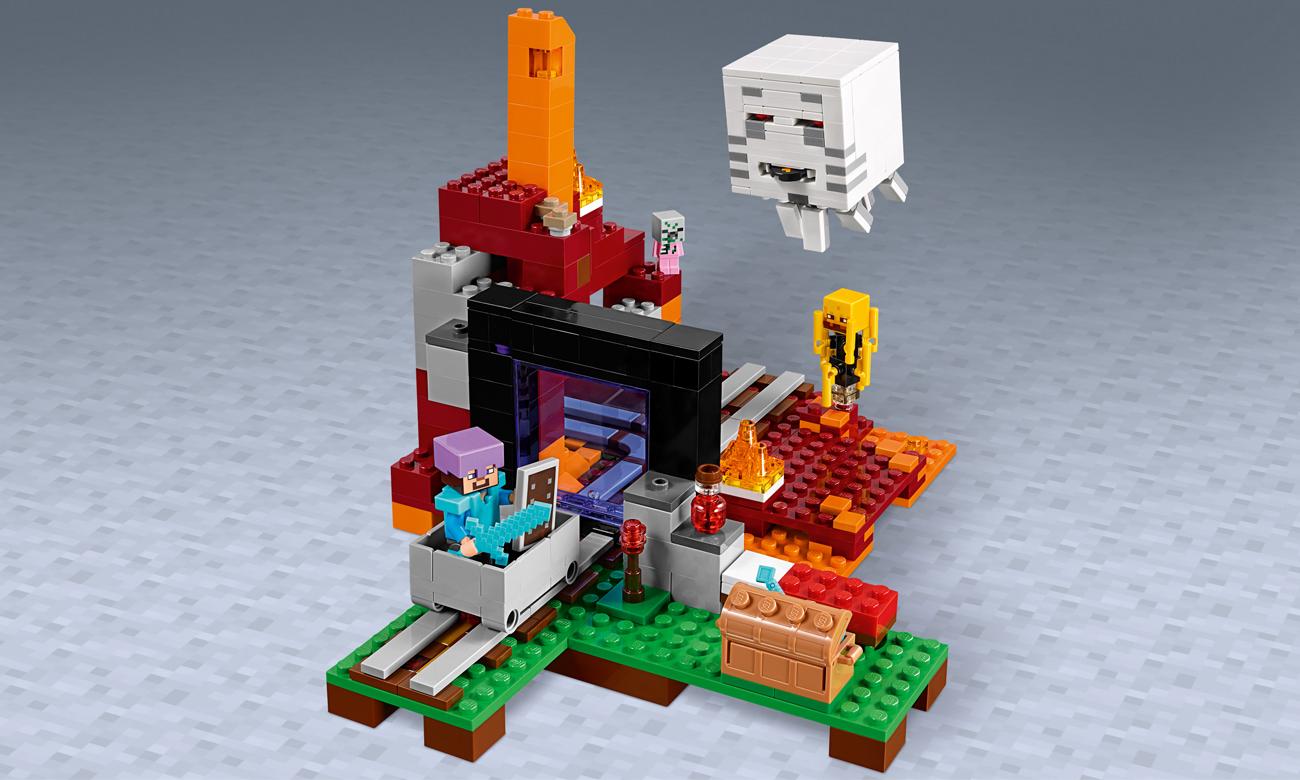 zestaw lego minecraft nether