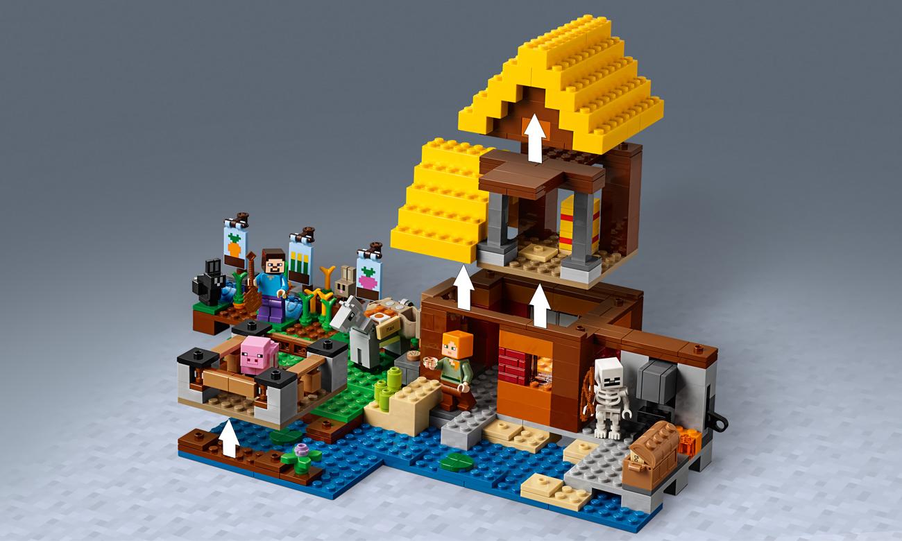 zestaw lego minecraft chatka