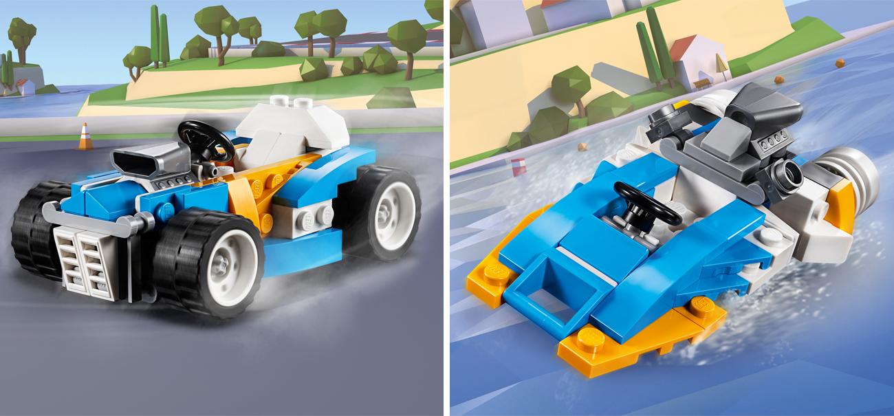 lego creator samochód wyścigowy