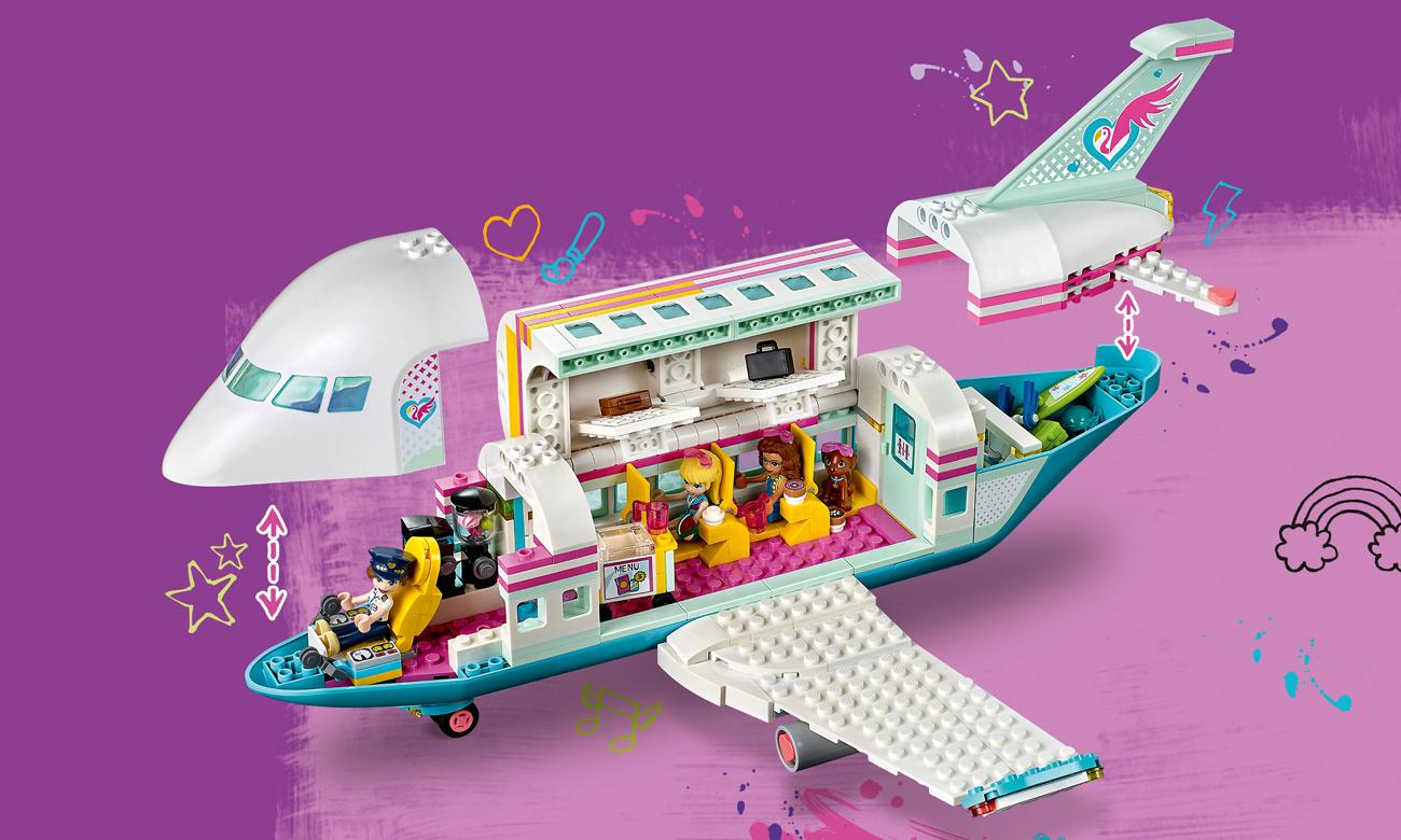 lego friends samolot