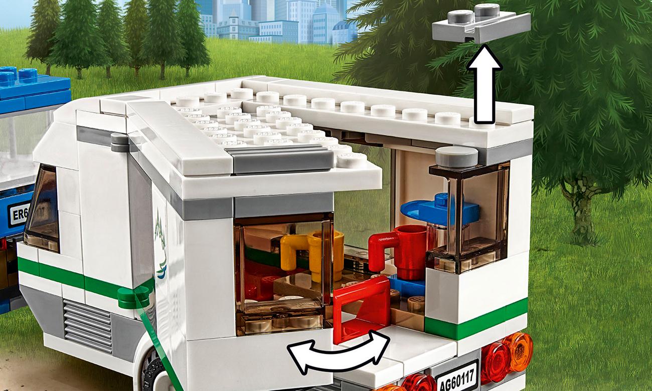 Lego City Van Z Przyczepą Kempingową Klocki Lego Sklep