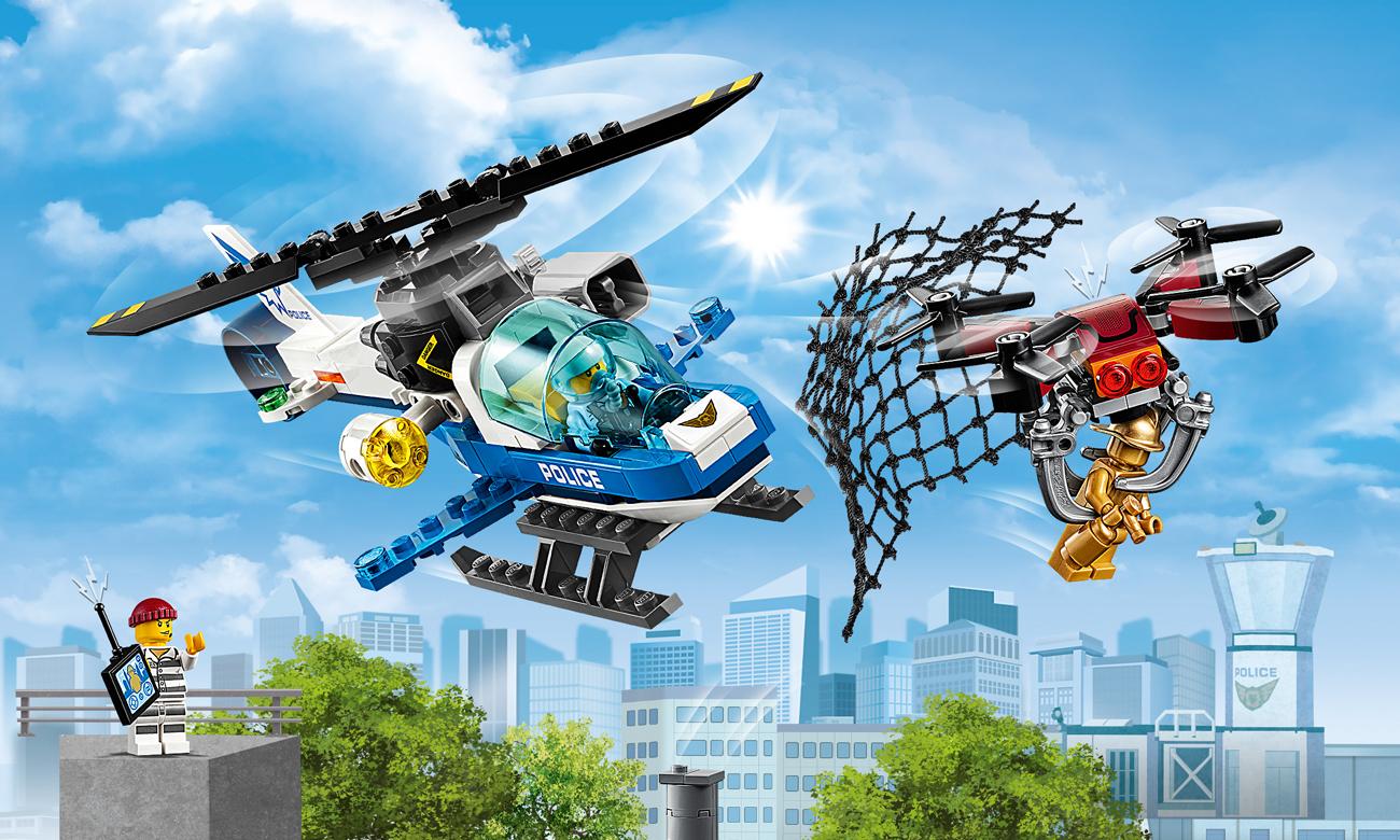 LEGO City Pościg policyjnym dronem