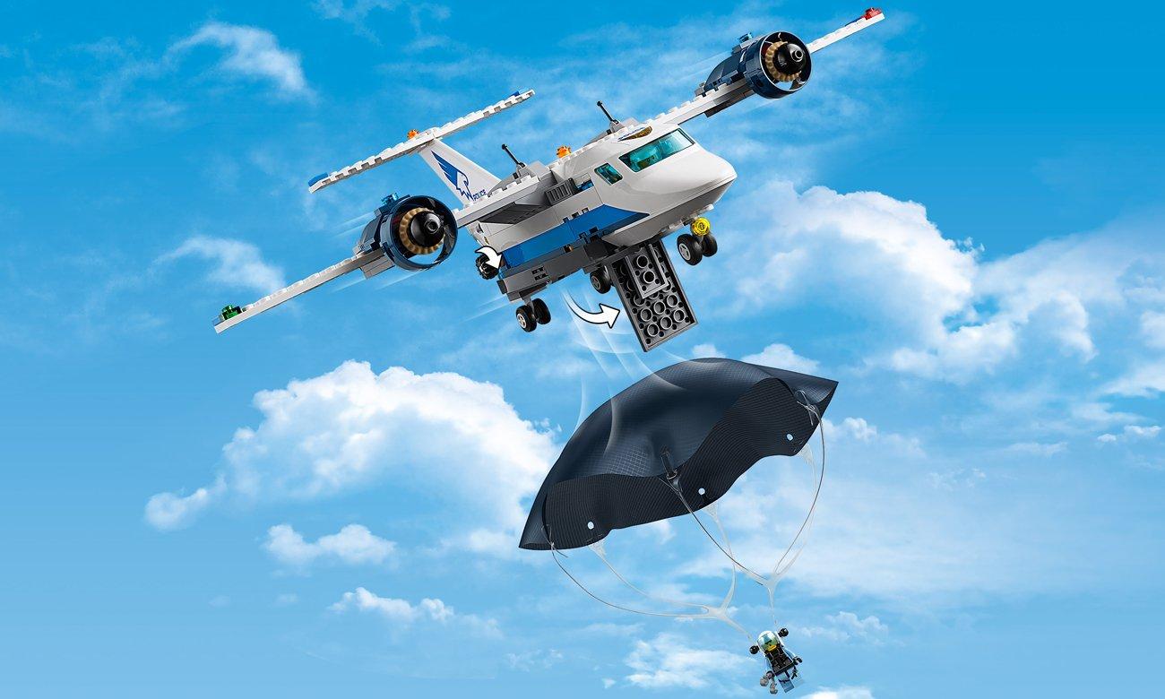 zestaw lego city helikopter policja