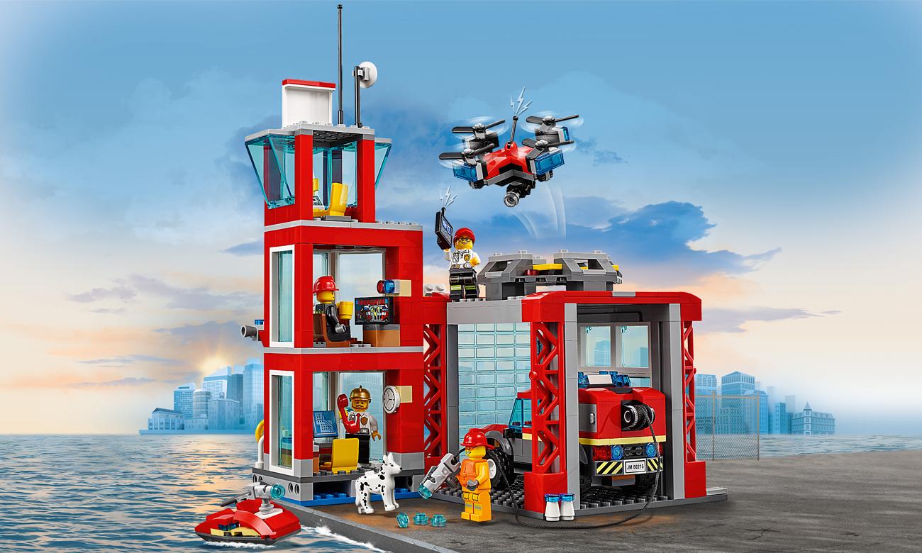 zestaw lego city pożar straż pożarna