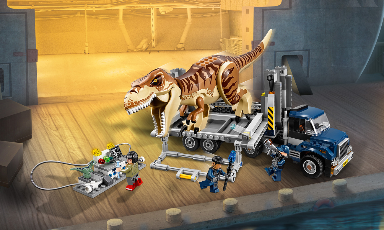 LEGO Jurassic World Transport tyranozaura