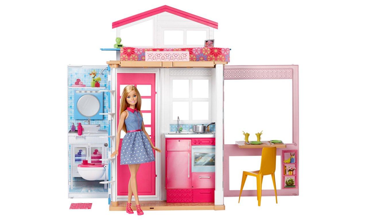 dwupoziomowy domek dla lalki barbie
