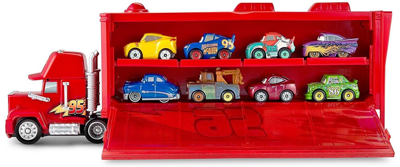 Mattel Cars Mikroauta Transporter z Zygzakiem