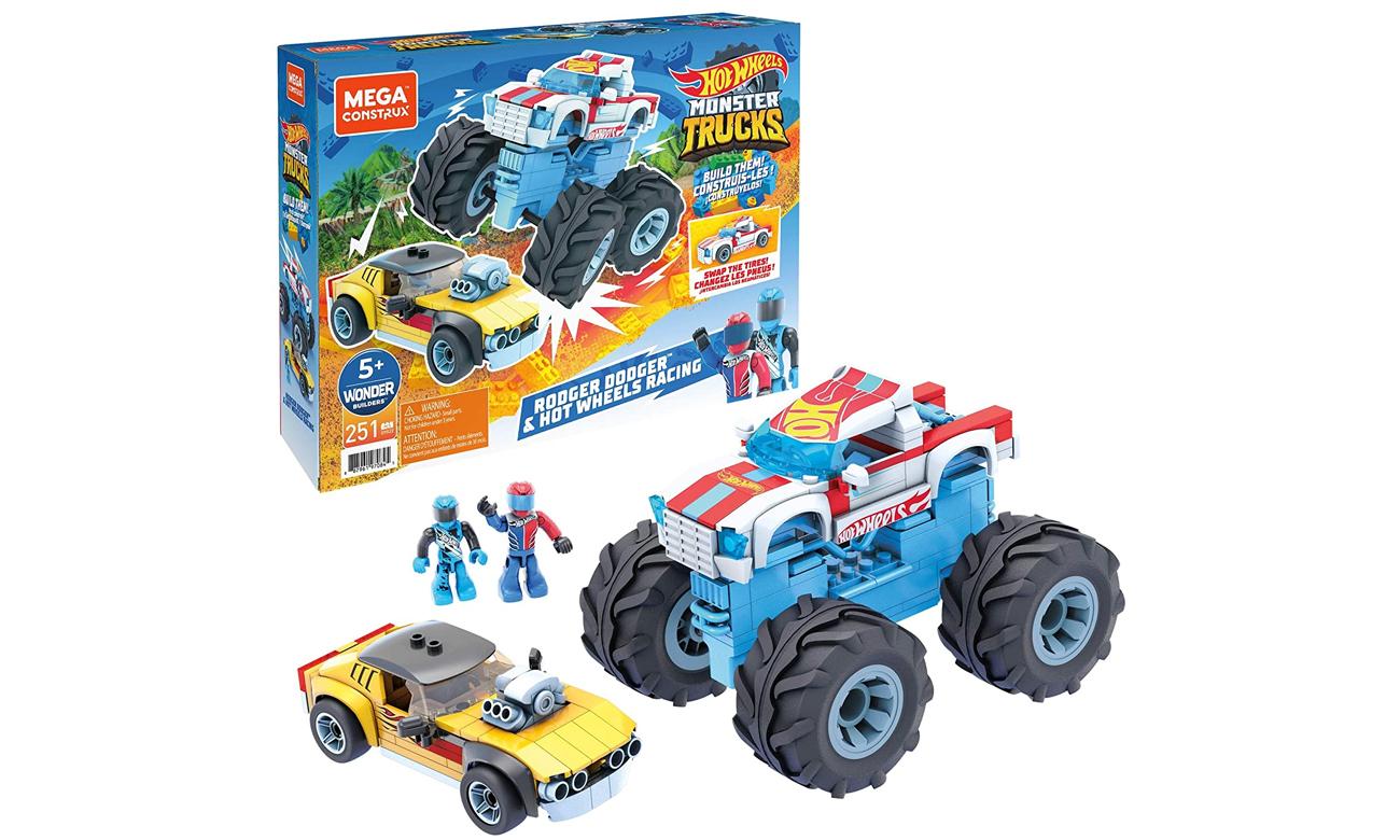 Mega Construx Rodger Dodger + Monster Trucks odHot Wheels