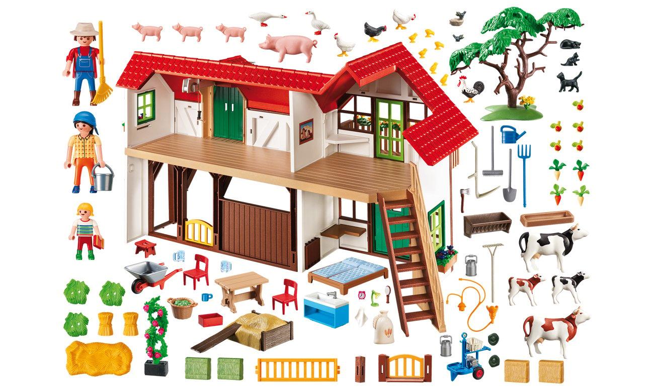 PLAYMOBIL Duże gospodarstwo rolne zawartość pudełka