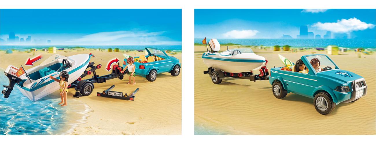 Wysoka jakość wykonania w Playmobil Surfer-Pickup z motorówką 6864