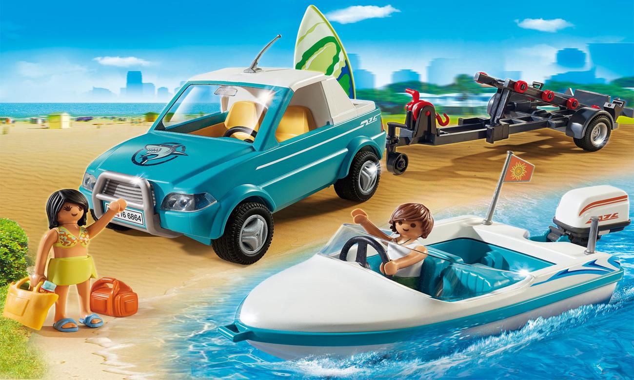 Playmobil Surfer-Pickup z motorówką 6864