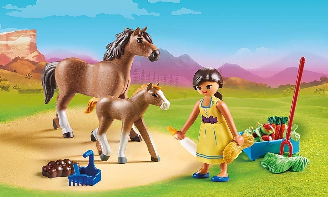 PLAYMOBIL® BPru z koniem i źrebakiem 70122