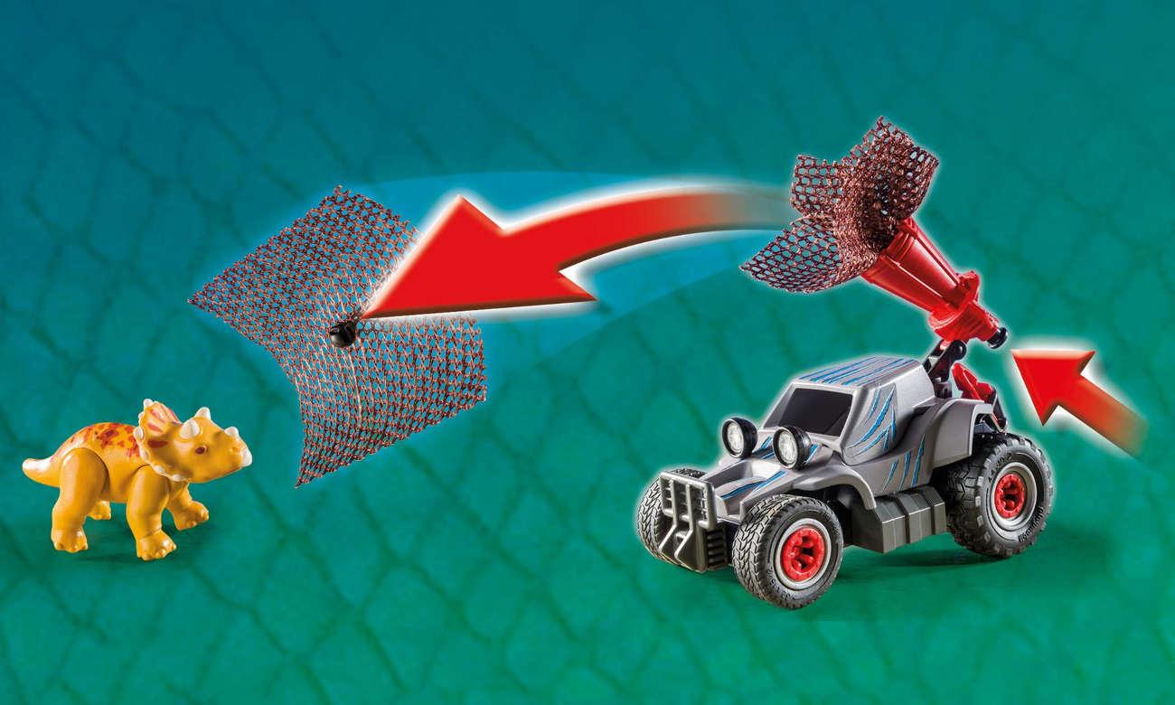 Klocki PLAYMOBIL® Samochód terenowy z działającą wyrzutnią sieci 9434