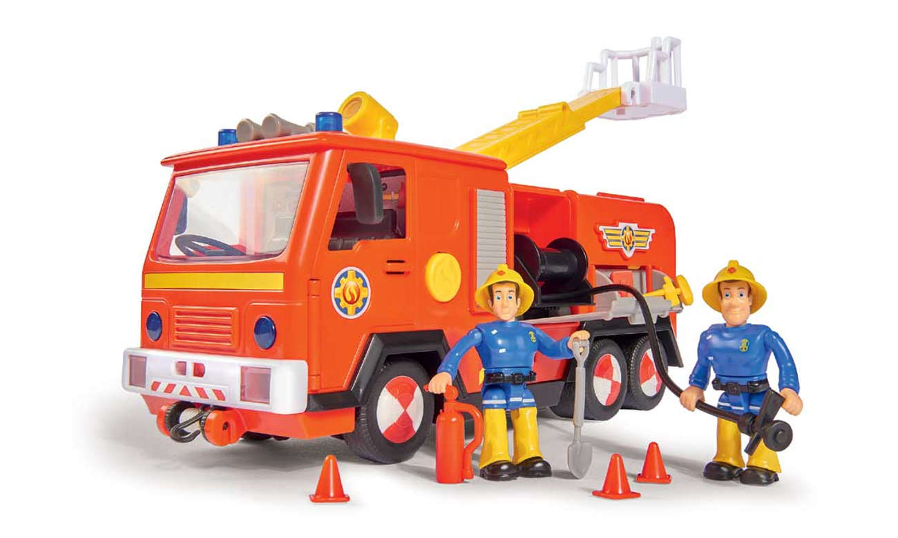 Simba Strażak Sam Wóz strażacki Jupiter z 2 figurkami II 4006592026363