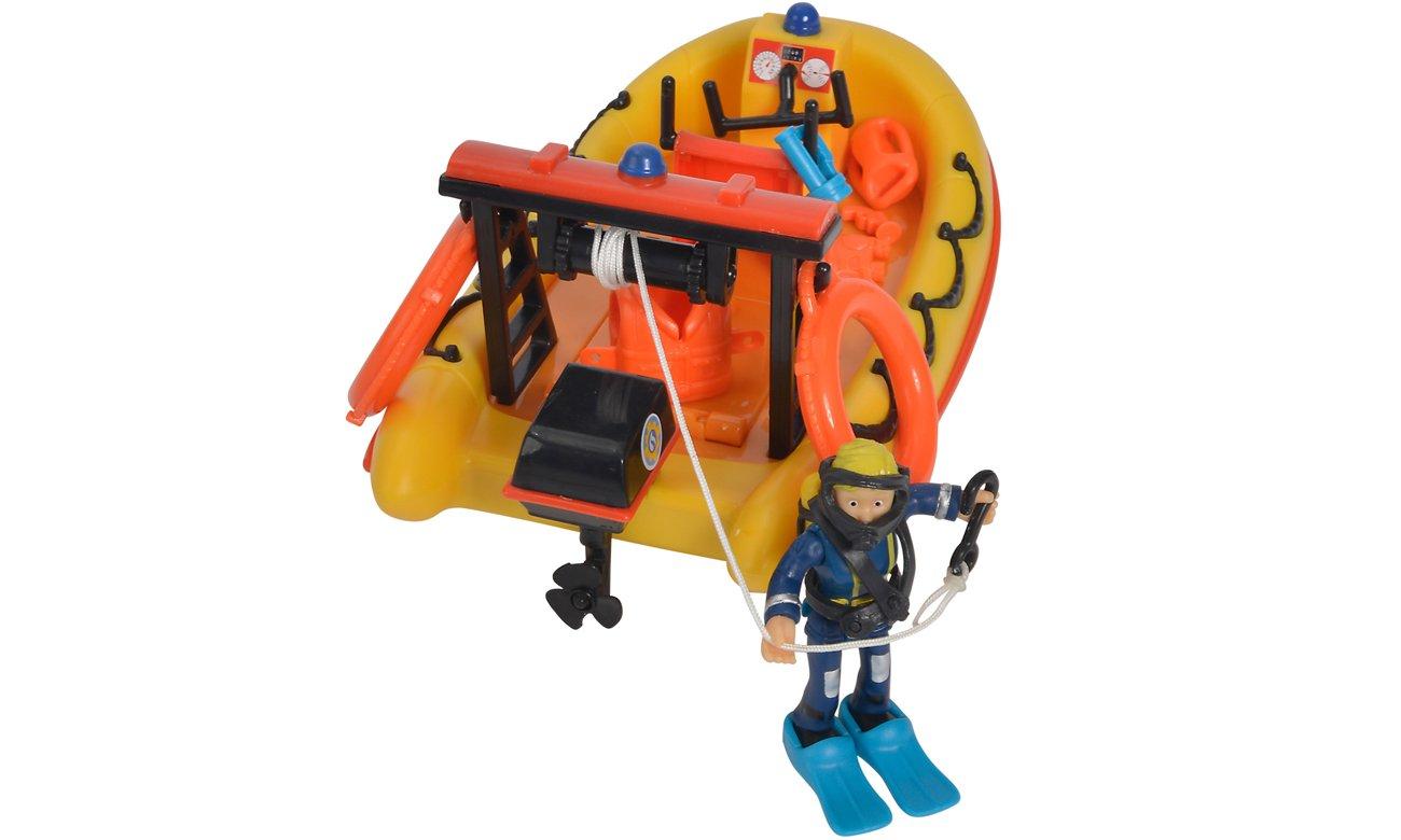 strażak sam zabawka łódź motorówka