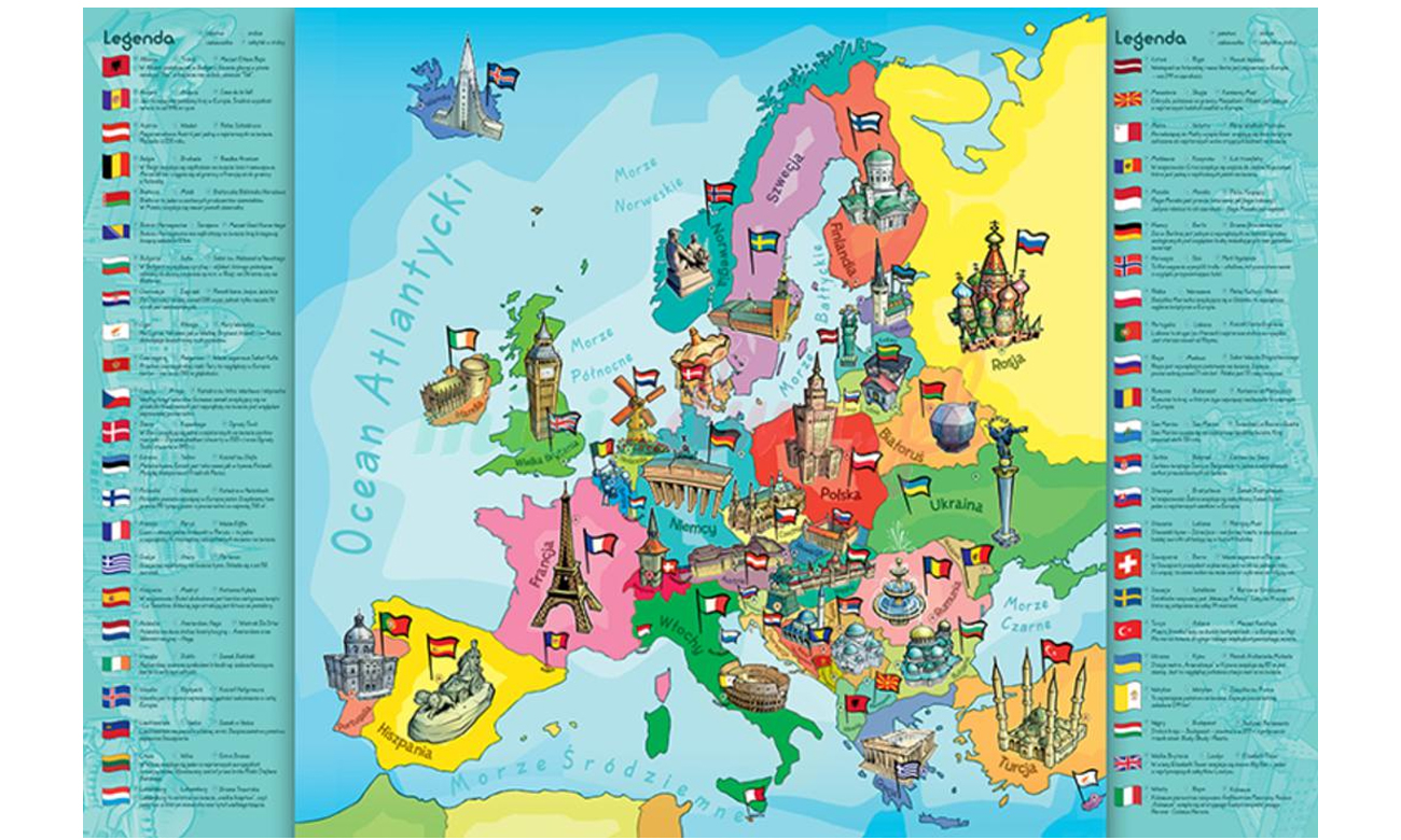 Trefl Mapa Europy 15503