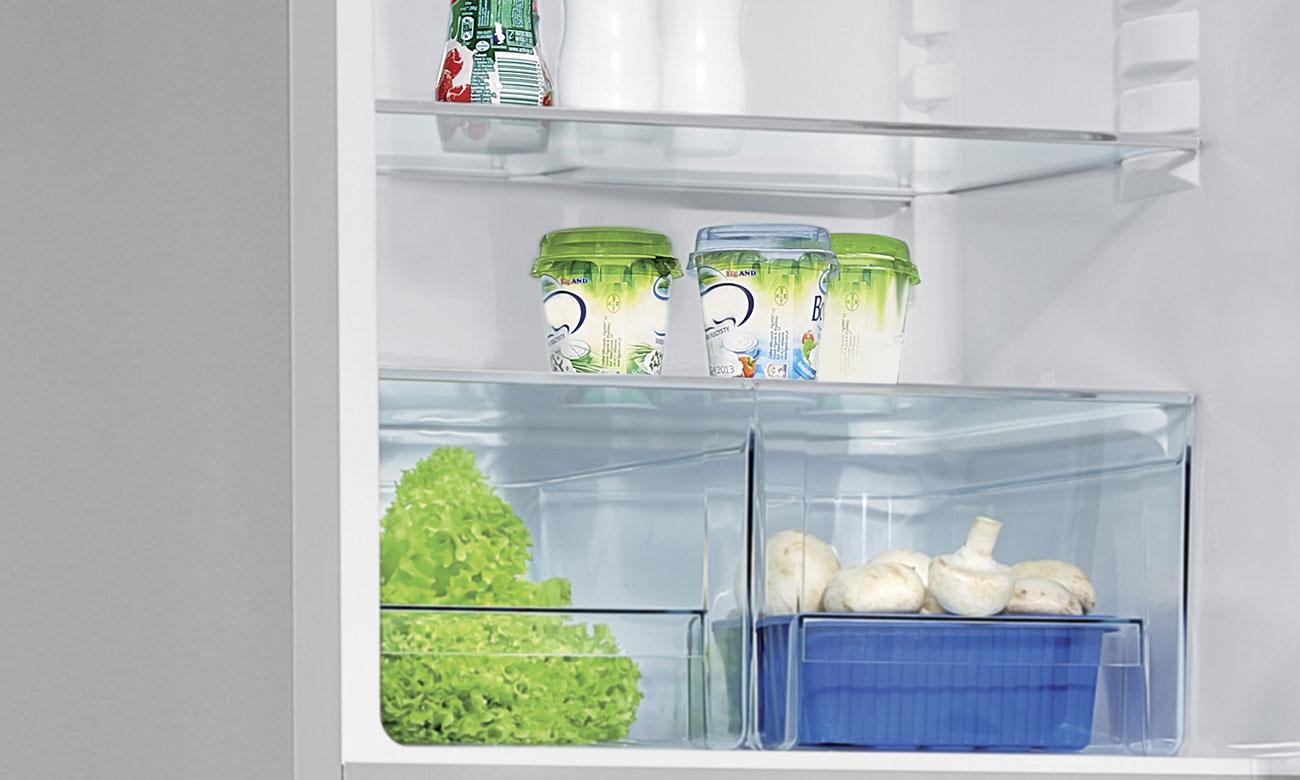 Szuflada na warzywa i owoce w lodówce Amica FK328.4X