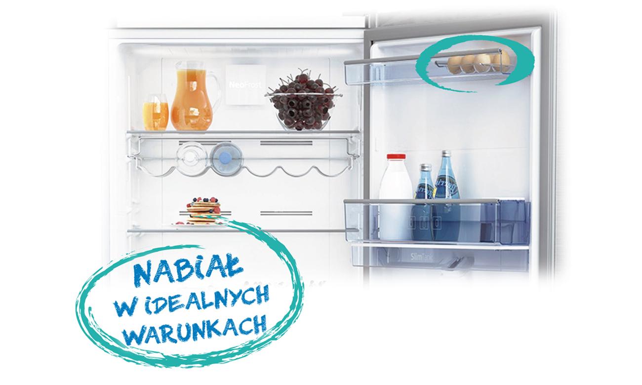 Półka na nabiał w lodówce Beko CNA365EC3X