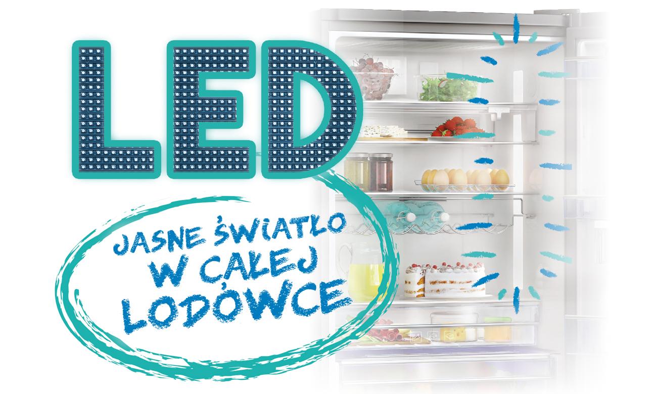 Oświetlenie LED w lodówce Beko CNA365KC0X
