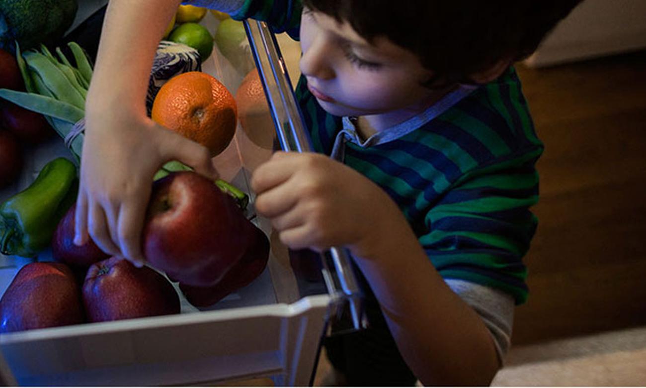Pojemnik na warzywa i owoce w lodówce Beko CNA365KC0X