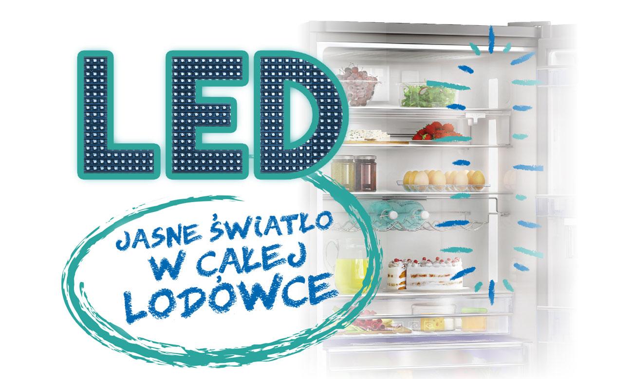 Oświetlenie LED w lodówce Beko GN1306220ZDX