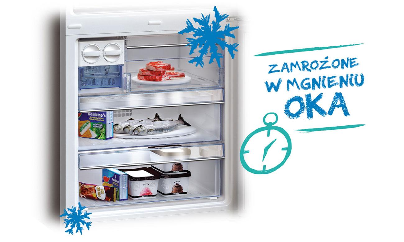 Szybkie mrożenie w lodówce Beko GN1306220ZDX