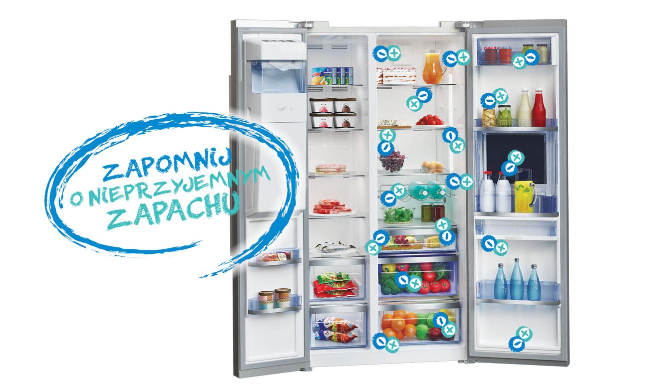 Pozbywanie się nieprzyjemnych zapachów, dzięki Aktywnemu jonizatorowi w lodówce Bekp GNE134621X