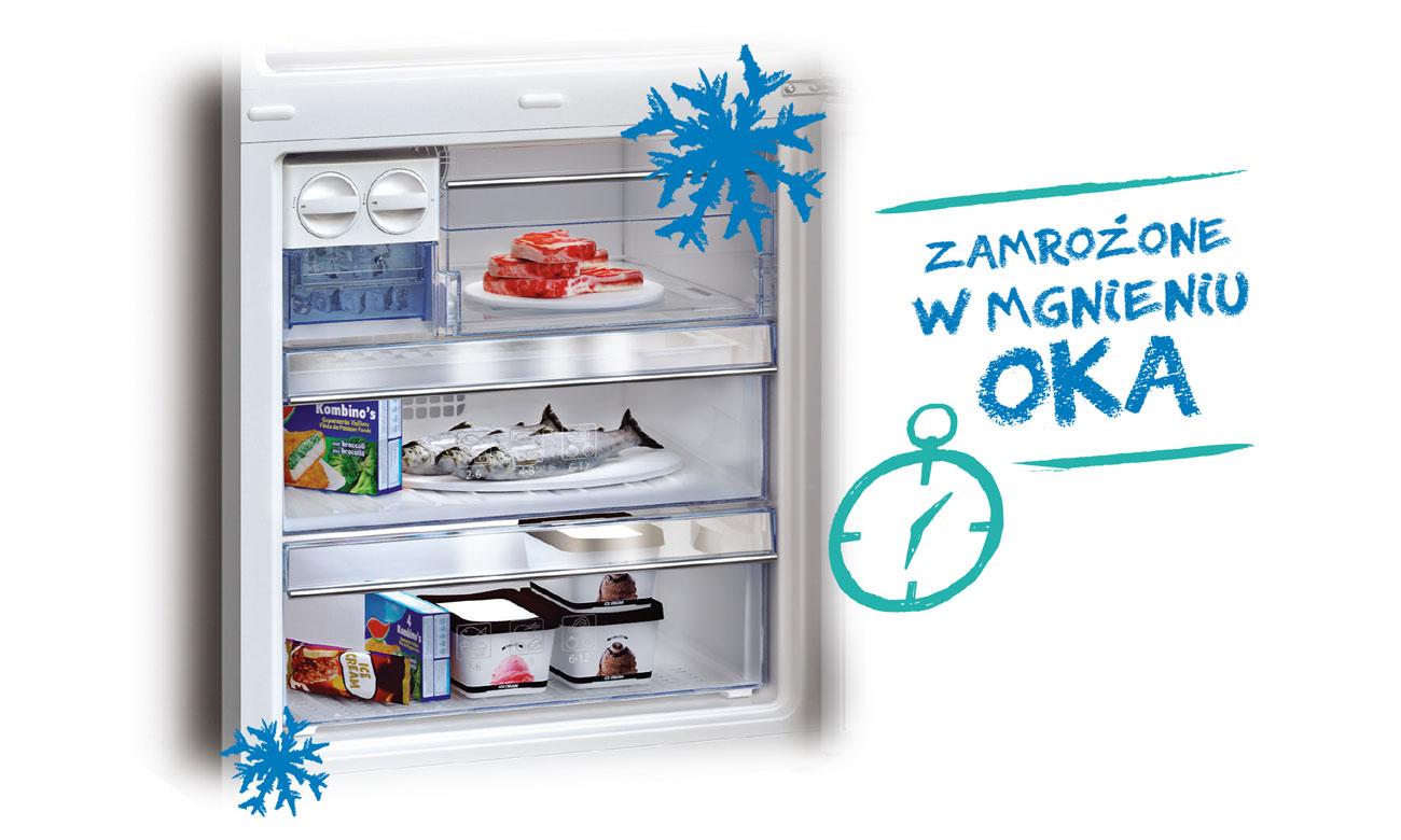 Szybkie mrożenie w lodówce Beko RCSA225K21W
