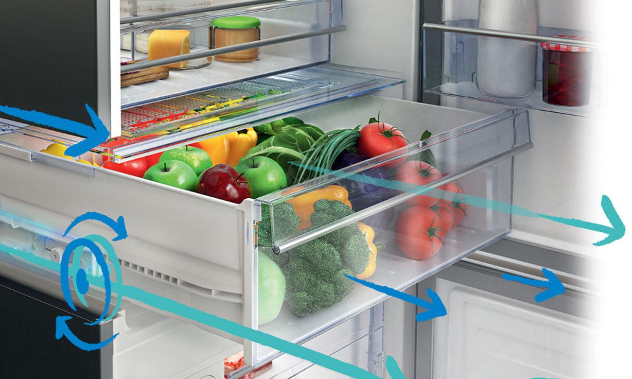 Szuflada na warzywa i owoce w lodówce Beko RCSA225K21W