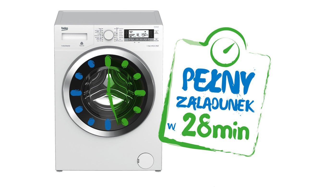 Szybkie pranie, dzięki programowi Codzienne Szybkie w pralce Beko WITC7612B0W